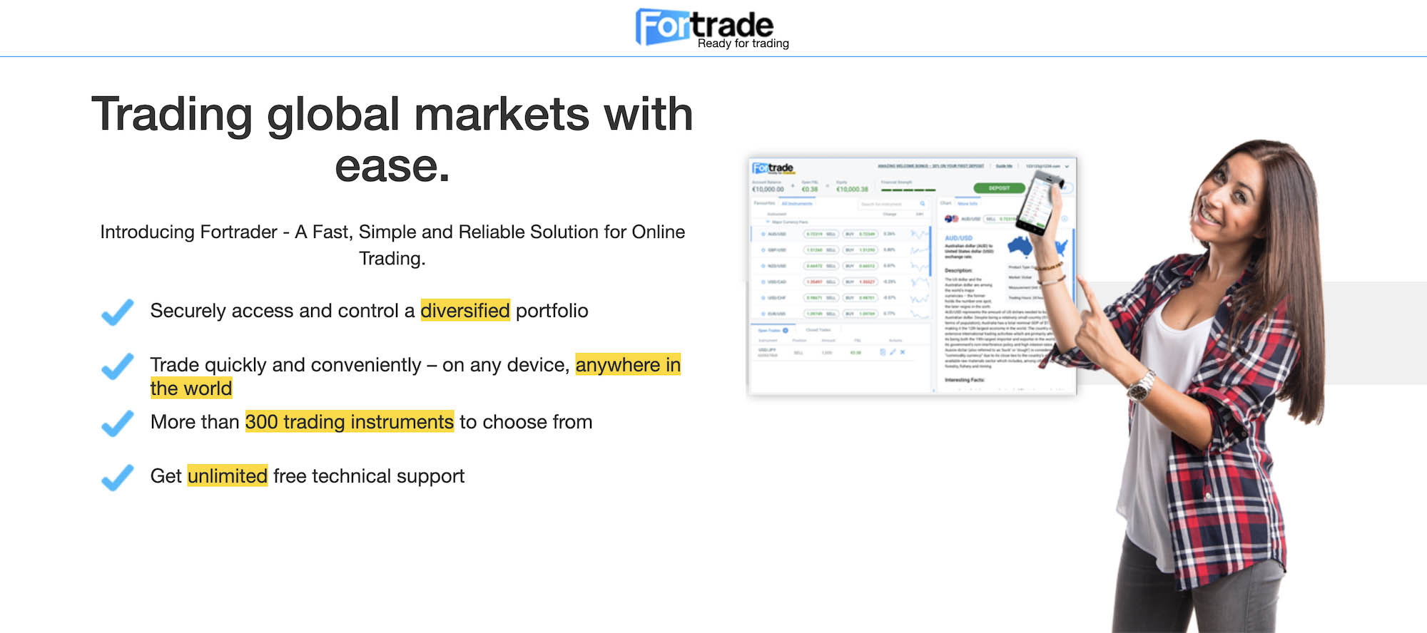 Join Fortrade for free